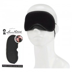 LUX FETISH Peek-a-boo Love Mask black